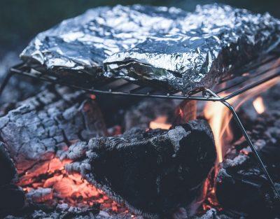 Скумбрия запеченная на углях
