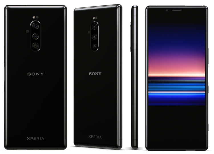 Sony Xperia 1-дизайн ракурсы