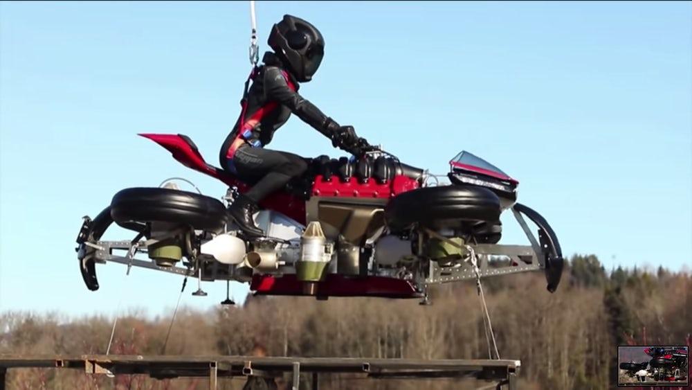 мотоцикл-реактивный квадрокоптер 2