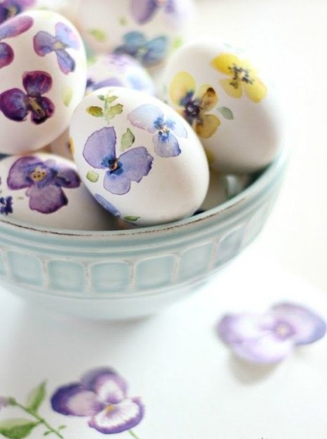Декор пасхальных яиц-идеи с акварелью