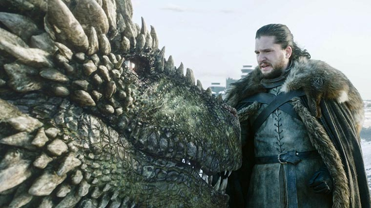 Джон чешет дракона