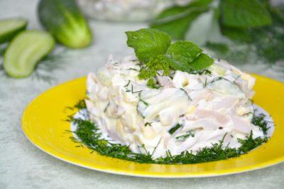 Рецепт салата из кальмара