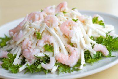 Вкусный салат из кальмара