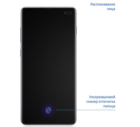 Galaxy S10+-биометрика
