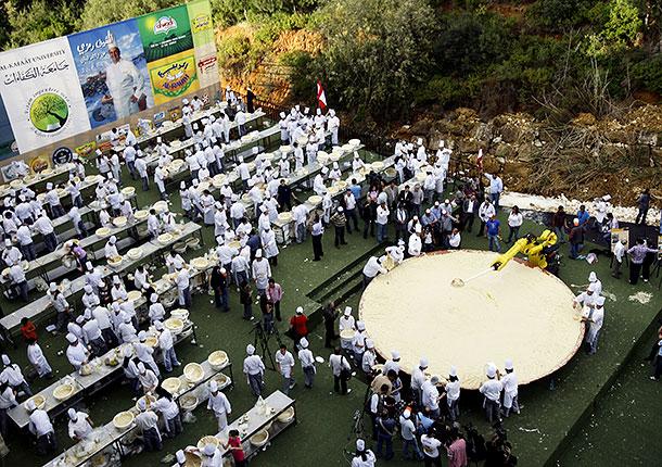 Хумус-мировой рекорд по приготовлению блюда