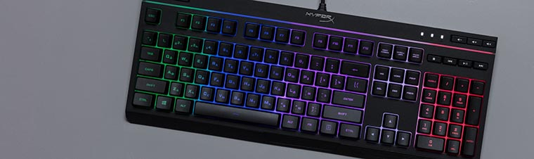 HyperX Alloy Core RGB подсветка