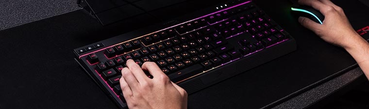 HyperX Alloy Core RGB в использовании