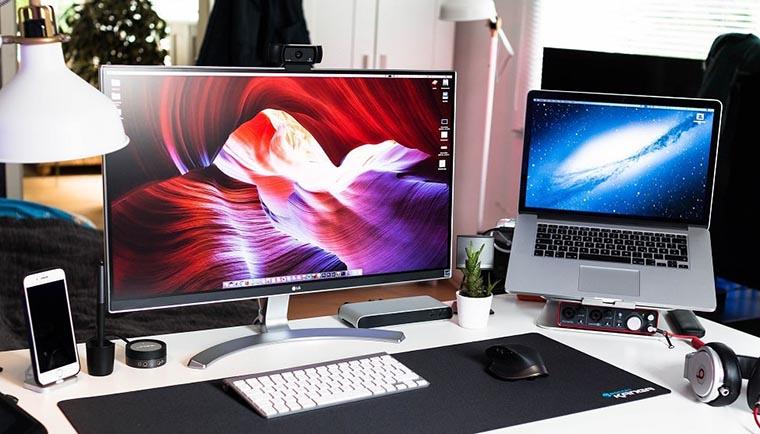 Компьютер и ноутбук для работы
