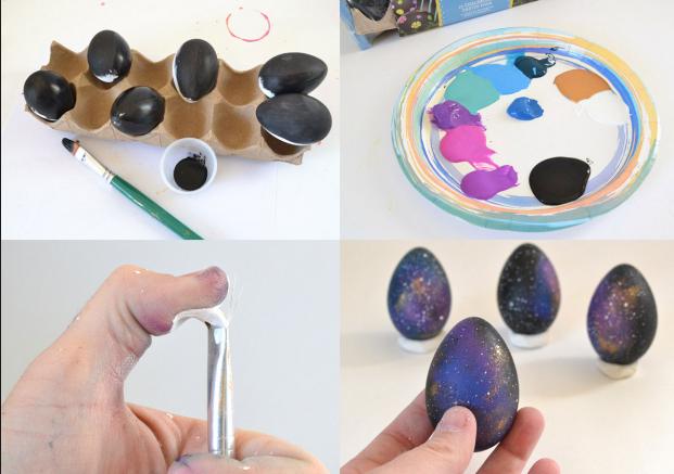 Космические пасхальные яйца-праздничный декор