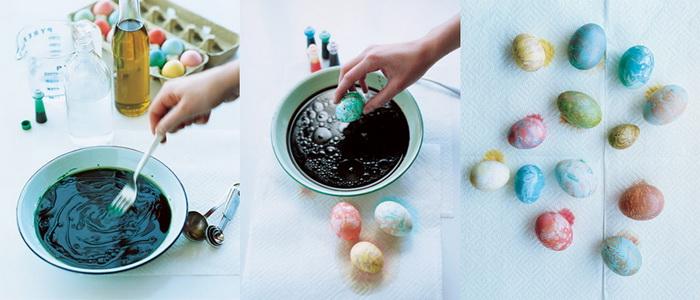 Мраморные яйца-пасхальный декор