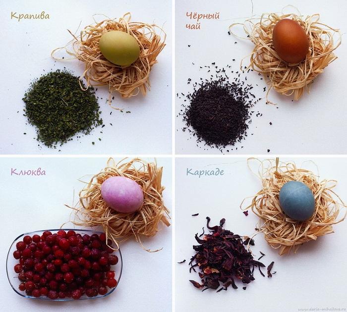 Натуральные красители для пасхальных яиц-фото