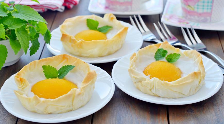 Постный десерт яичница