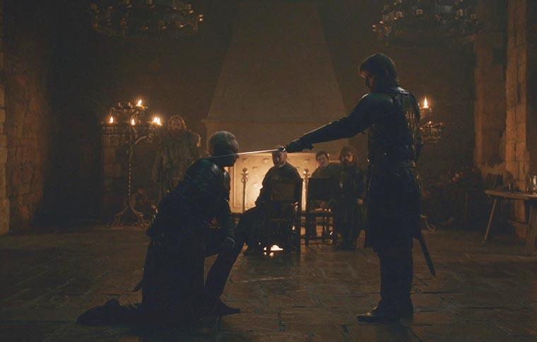 Посвящение Бриенны в рыцари
