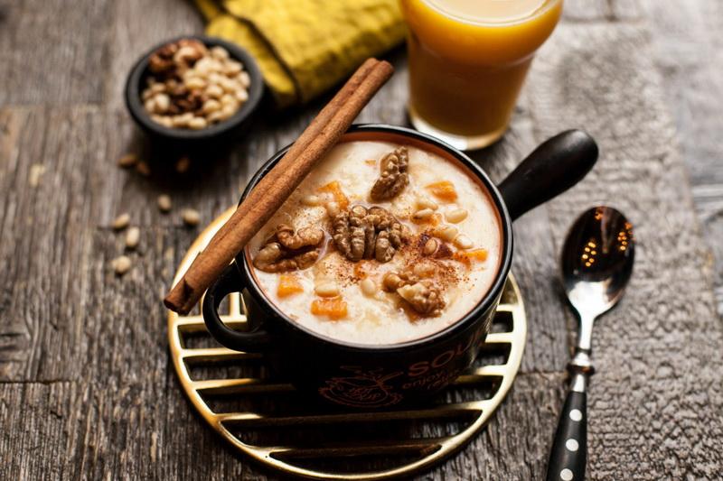 Рисовая каша на кокосовом молоке-с тыквой