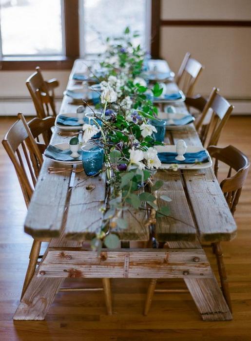 Рустикальный стиль оформления пасхального стола-фото 1