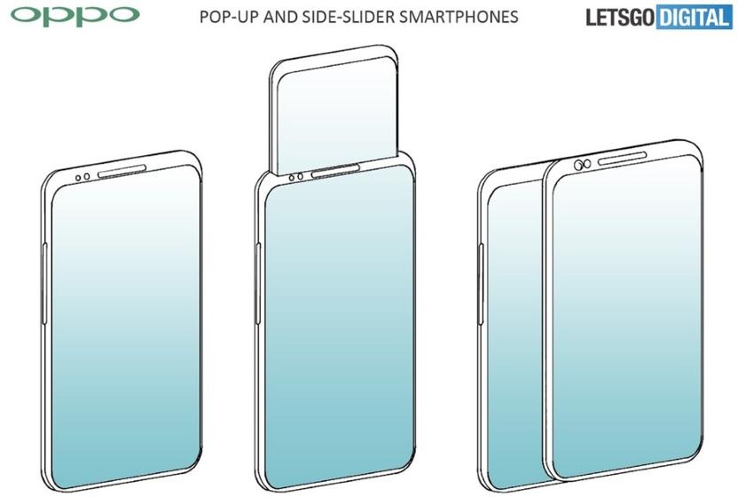 Второй выезжающий экран в смартфоне - новый патент от Oppo