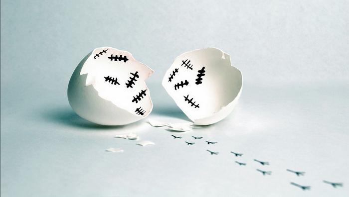 Яичная скорлупа-креативный декор