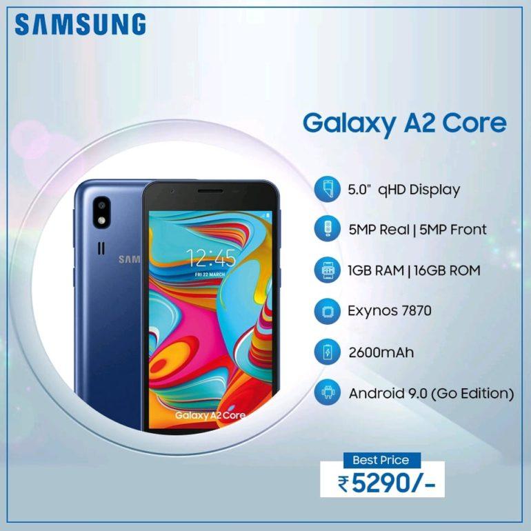 бюджетный Samsung Galaxy A2 Core 2
