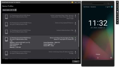 Эмулятор Андроид Visual Studio от Майкрософт