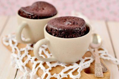 Кавовий кекс з какао в 2 чашках