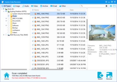 Программа для восстановления удалённых данных Hasleo Data Recovery Free