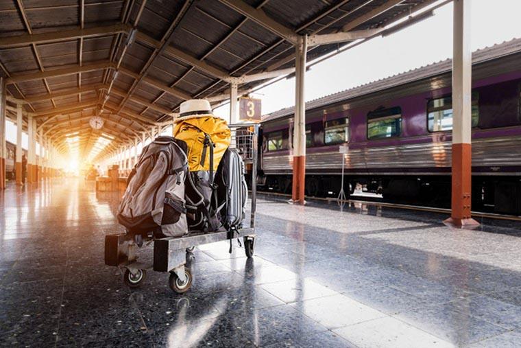 Багаж на вокзале