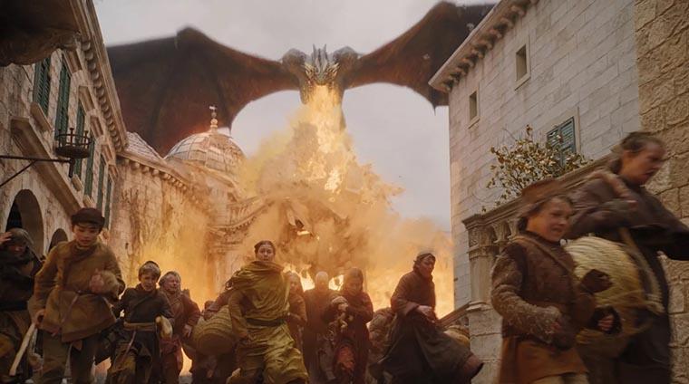 Фаер-шоу на драконе