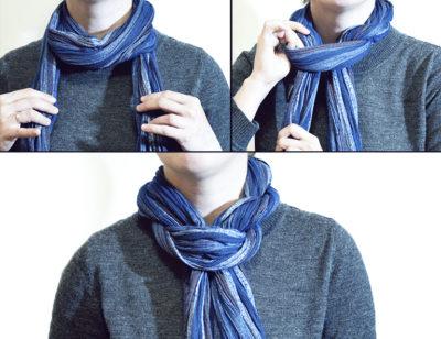Завязывание шарфика