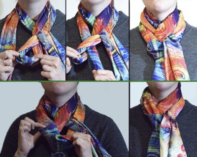 Как красиво завязать шарф на шее