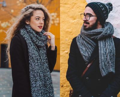 Простой способ завязать зимний шарф