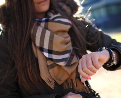 Как завязать зимний платок