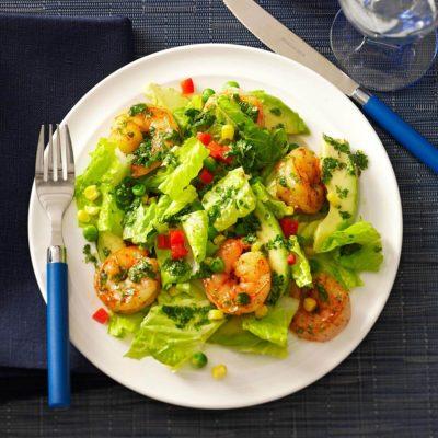 Самый вкусный салат с креветками и авокадо-2