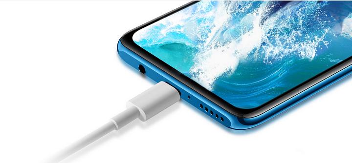 Huawei P30 Lite-Blue-зарядка смартфона