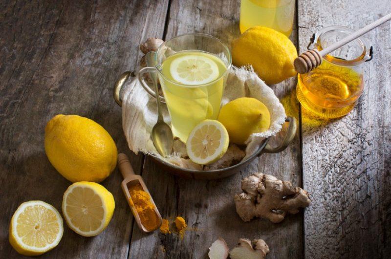 Имбирный лимонад-с куркумой