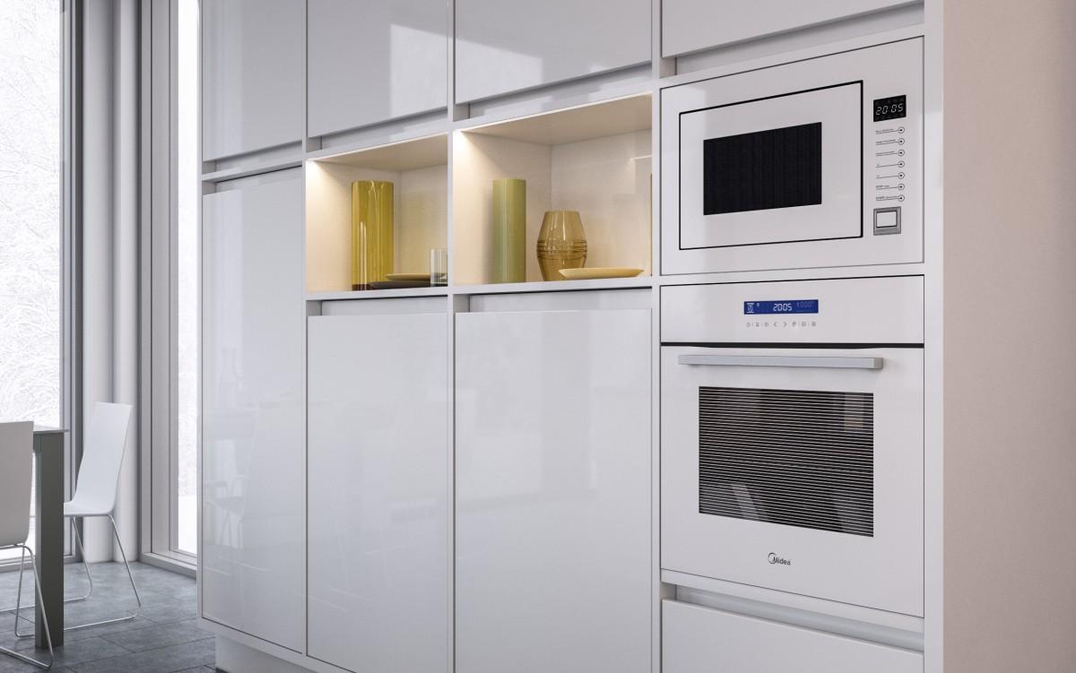 Как выбрать духовой шкаф - белая встраиваемая духовка