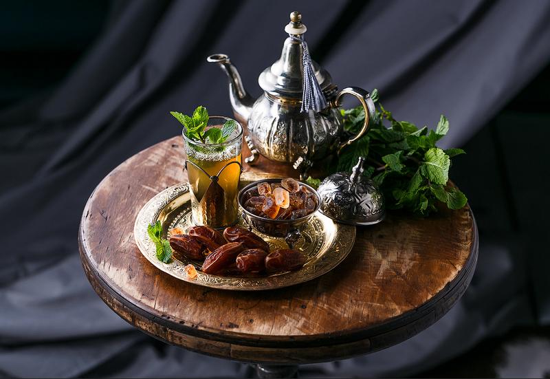 Марокканский чай-подача