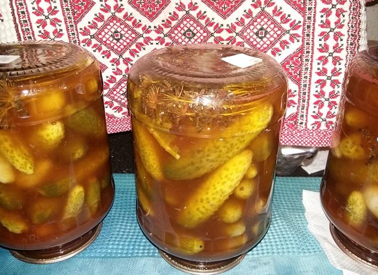 Огірки з кетчупом Чилі