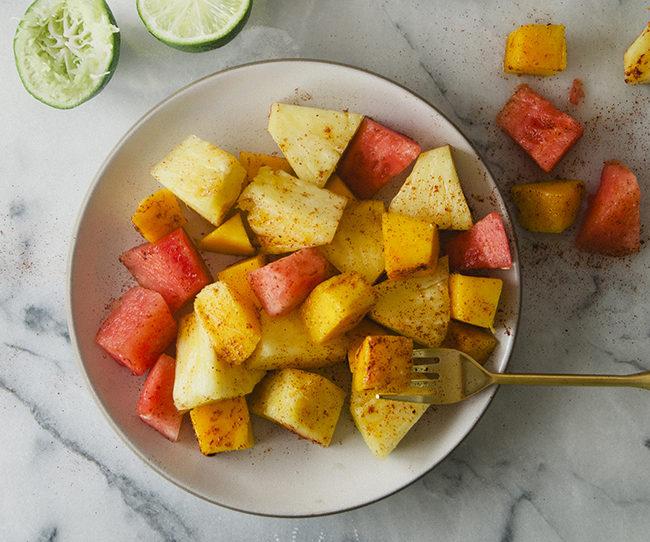 Острый фруктовый салат-для пикника