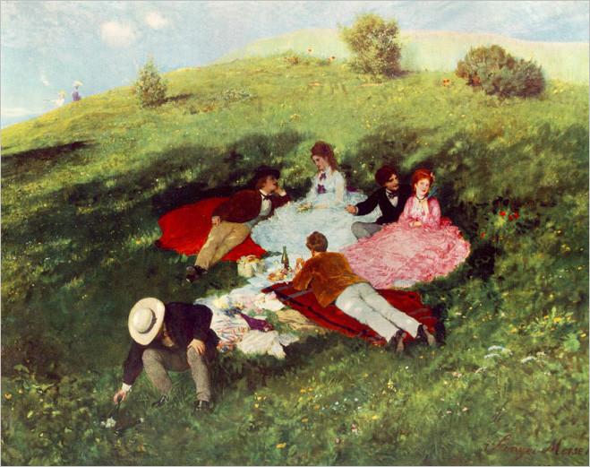 Пал Синьеи-Мерше-Пикник в мае 1873
