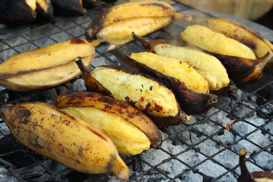Переспевшие бананы-гриль