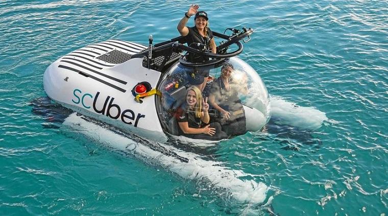 Подводное экскурсионное такси от Uber 2
