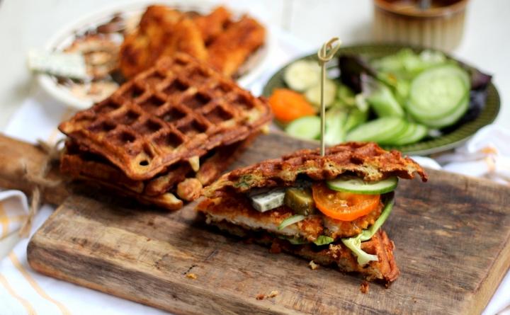 Сэндвич с вафель-вкусные идеи