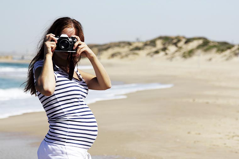 Туристка на пляже