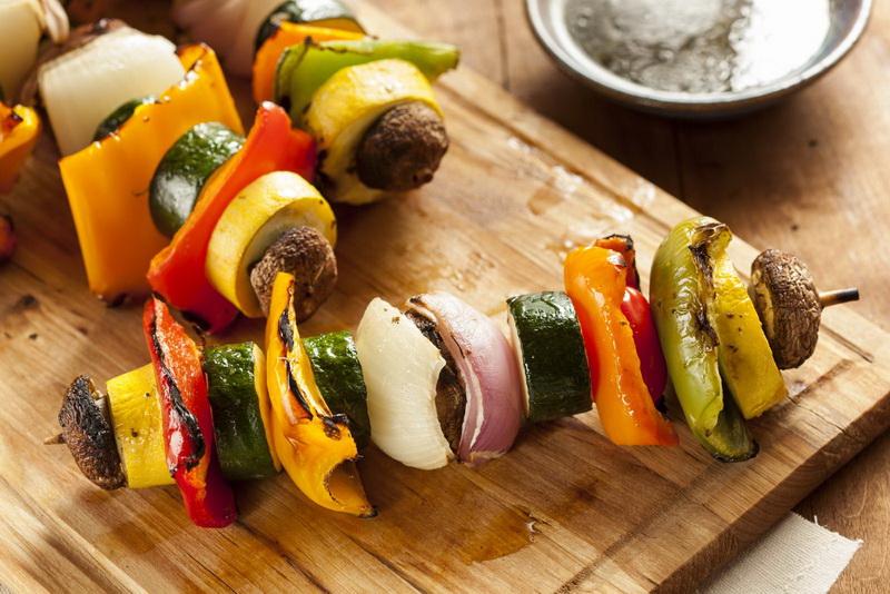 Вегетарианский шашлык-гарнир