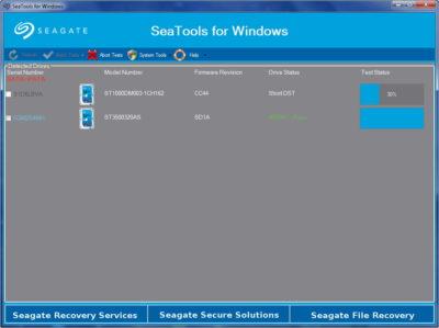 Программа для диагностики Seagate SeaTools