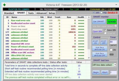 Програма для діагностики Victoria HDD