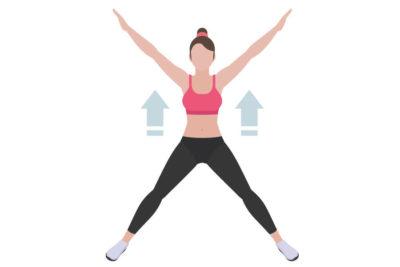Упражнение с разведением рук и ног