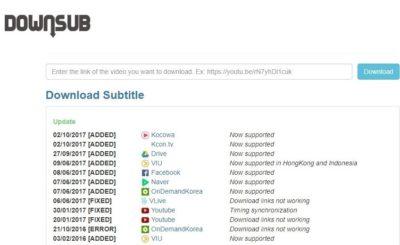 Онлайн-ресурс для загрузки субтитров - DownSub