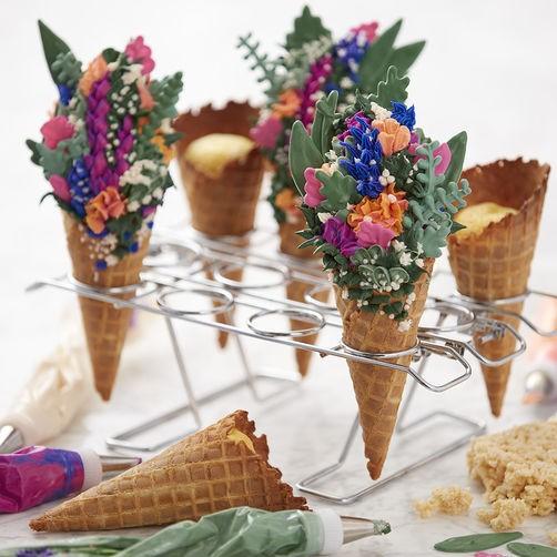 Flower-Cupcake Cones