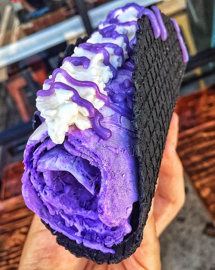 Радужное мороженое-тако
